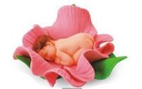 """Сахарная фигурка """"Малыш в розовом цветочке"""""""