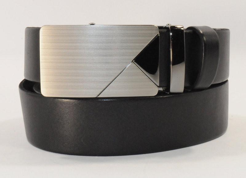 Ремень кожаный мужской автомат черный 8005-301