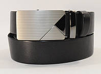 Ремень кожаный мужской автомат черный 8005-301, фото 1