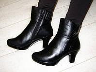 С512 - Сапоги женские зимние черные на каблуке