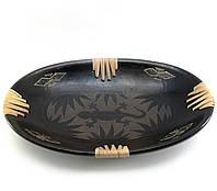 "Блюдо ""Саламандра"" терракотовое овальное (34х21,5х5 см)"