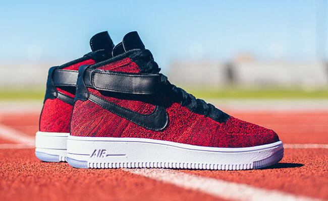 Кроссовки Nike Air Force Ultra Flyknit Mid Red Black купить в Киеве ... f1e29c782d1