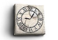 """Часы на холсте """"Postcard"""", 30х30 см. Украина!"""