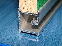 Алюминиевый профиль-вставка для экономпанелей стендов торговых стеллажей