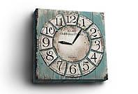 """Часы на холсте """"Старый город"""", 30х30 см. Украина!"""