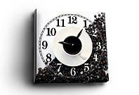 """Часы - картина  """"Coffe black&white"""", 30х30 см. Украина!"""