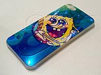 Чехол детский силиконовый с рисунком sponge bob губка боб стразы для iPhone 5/5s/5se