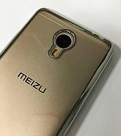 Силиконовый чехол с бампером под металлик Meizu M3Note