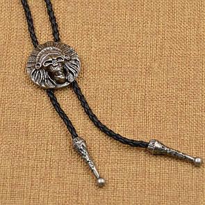 Bow Tie House™ Вождь индейцев - галстук боло (галстук шнурок бола) - металлического цвета