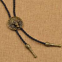 Bow Tie House™ Вождь индейцев - галстук боло (галстук шнурок бола) - медного цвета