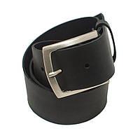 Ремень кожаный черный матовый Крейзи Хорст 2.0 мм толщиной