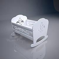 "Кукольная кроватка ""Lily"" МДФ, ольха, фото 1"