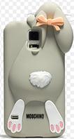 Чехол-Зайчик Samsung S5 чехол Moschino Серый