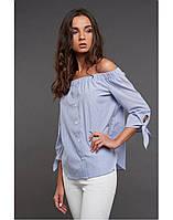 Рубашка в полоску с завязками на рукавах