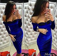 Платье modno  бархат, фото 1