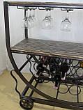 Передвижной винный комод (арт. MS-KBL-401), фото 6