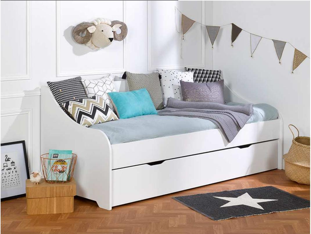 Кровать-диван для подростка, Junior Provence Lit banquette CALI blanc