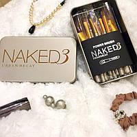 Профессиональные кисти для макияжа (золотистые)