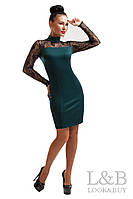 Вечернее платье Наоми изумруд