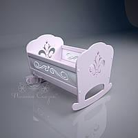 """Кукольная кроватка """"Lily"""" Pink. МДФ, ольха, фото 1"""