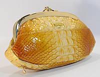 Косметичка женская кожаная Kehzon 916 золотистая