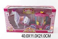 Карета 00508 с лошадкой, муз, ходит, куколкой, в кор. 40*11*21см