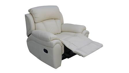 Кожаное кресло реклайнер Boston, кресло с реклайнером, реклайнер, фото 2