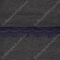 Темно-синее кружево 30 мм от 5 метров