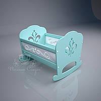 """Кукольная кроватка """"Lily"""" Бирюза. МДФ, ольха, фото 1"""