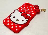 Чехол силиконовый игрушка hello kitty для iphone 5/5s/5se
