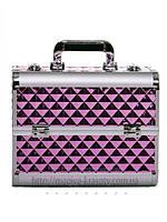 """Чемодан для визажиста с выдвижными полочками """"Diamonds"""", розовый , фото 1"""