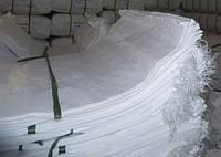 Мешок белый полипропиленовый 55*90 плотный черно-красно-синяя полоса( 50кг )