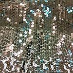 Пайетка ткань черная вышитая на сетке мерцающая для вечерней одежды, фото 2