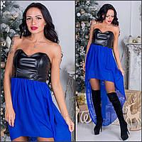 Вечернее платье с кожаным верхом (много расцветок) s-5032443