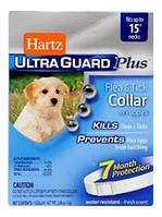 Hartz Ultra Guard Collar for Puppy,35см -ошейник для щенков (с 6 недель) от блох и клещей на 7 месяцев (белый)