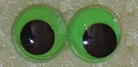 Глаза бегающие 10 мм. салатовый