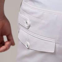 Модные мужские брюки с натурального хлопка черные, белые