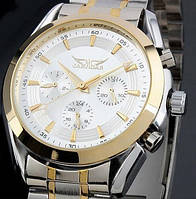 Мужские механические часы Jaragar Gold Steel с автоподзаводом