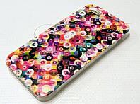 Чехол силиконовый с рисунком цветные кружки для iPhone 5/5s/5se