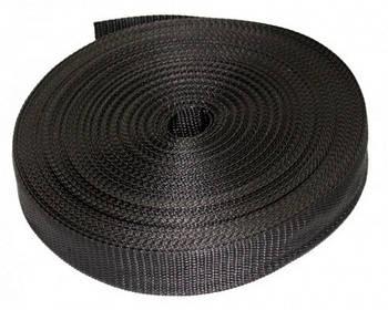Тесьма / лента ременная 3 см, черная