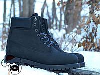 Мужские черные ботинки из нубука Classіc Black Boots