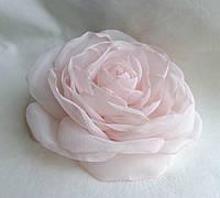 """Брошь из ткани ручной работы """"Чайная роза"""""""