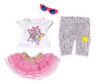 Одежда для кукол Беби Борн комплект одежды гламурный стиль Baby Born Glam Hit Zapf Creation  822241