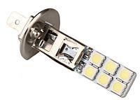 Светодиодная лампа  H1 12 СМД 1Вт 12 В 6000 К H1 12SMD LED Bulb Lamp Auto car 1.5Вт