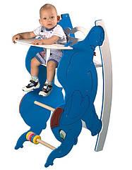 Детский деревянный стульчик-трансформер для кормления с качалкой и столиком - Слоник ТМ SportBaby Цветной