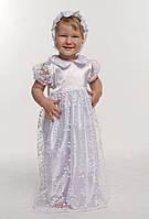 Крестильный комплект с гипюром для девочки 3-9 мес. р. 62-74 (4 предмета) ТМ Модный карапуз Белый