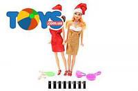 Набор кукол типа Барби в новогодних шапочках, 8866-1