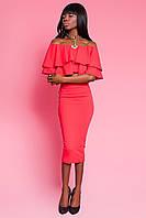 Костюм женский с юбкой и блузой в 4х цветах JD Лотос