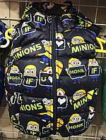 Жилетка Миньон оптом 92-116 синий