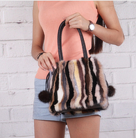 Меховая норковая сумочка. Женская сумка из меха норки